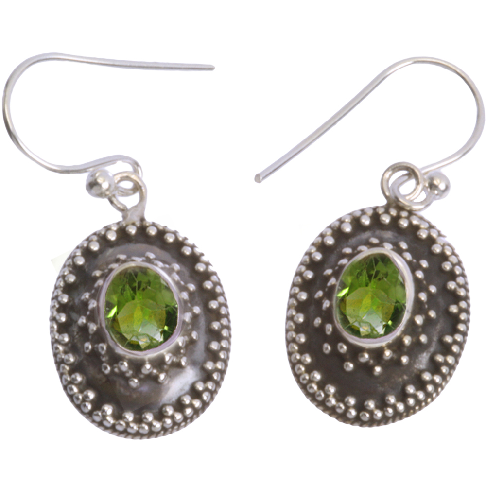 77ab0817c Sterling Silver Earrings with Peridot - Morning Sun Jewelry